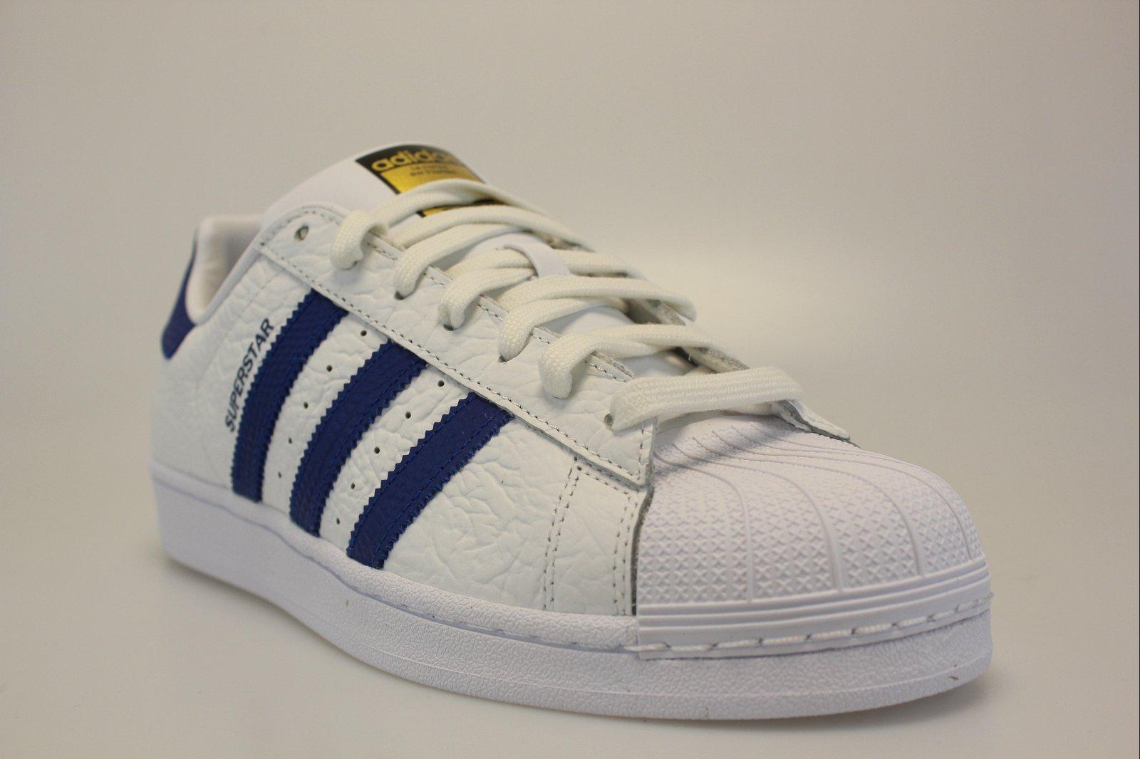 adidas superstar blanche bleu
