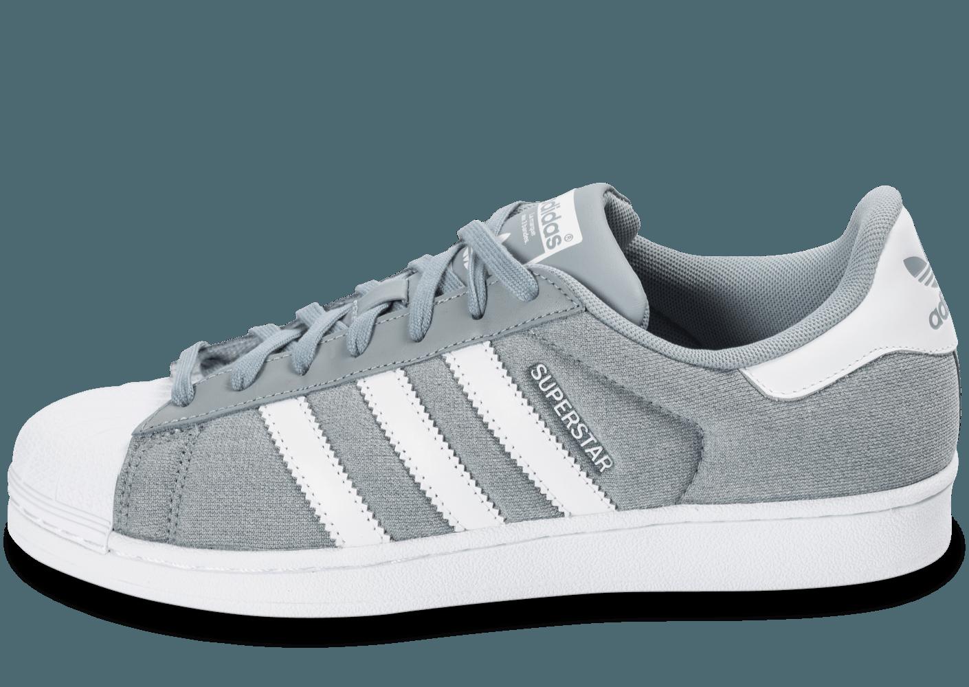 adidas superstar gris et blanc