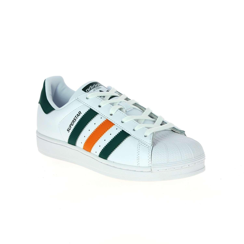 adidas superstar vert et blanc