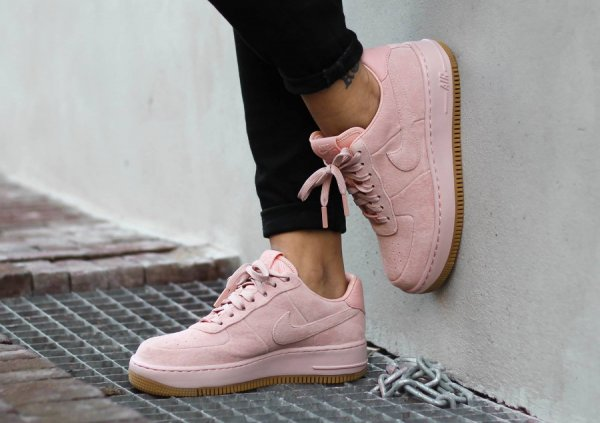 nike air force one suede rose