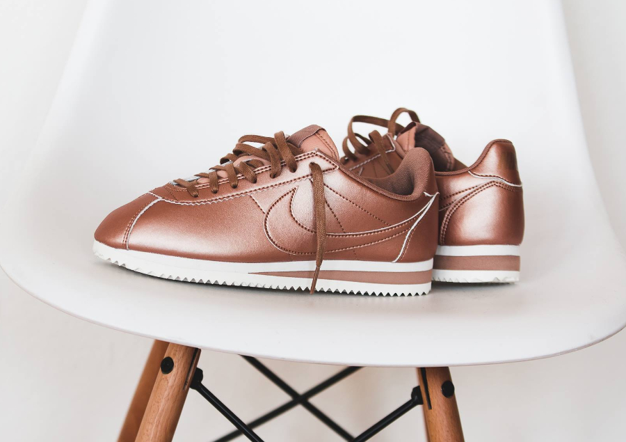 nike cortez rose gold